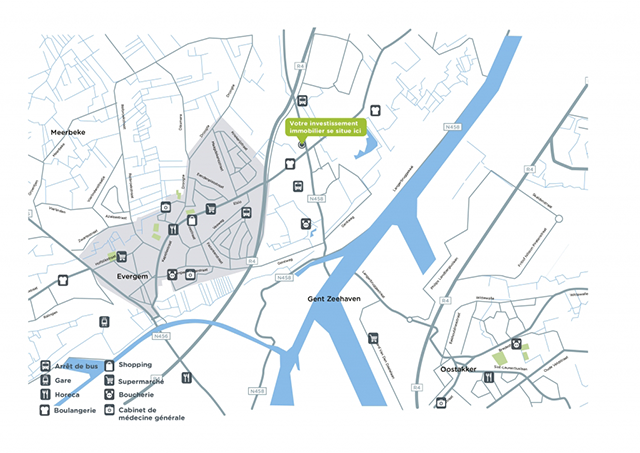 Map Project Récidence Evergem